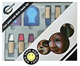 Face Paint & Hair Chalk Art Toys for Kids. Great for School, Halloween, Birthday and Costume Makeup Kit. Highlights, Hair Color & Body Paint all in one. Fantasy has no limits. Creative Drawing Set