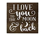 I Love You to the Moon and Back Sign Wood Sign Rustic Nursery Art I love you to the moon sign sister gift Rustic Home Decor
