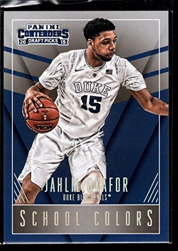 JAHLIL OKAFOR NETS ROOKIE DUKE SCHOOL COLORS RC SP 2015-16 CONTENDERS 4A