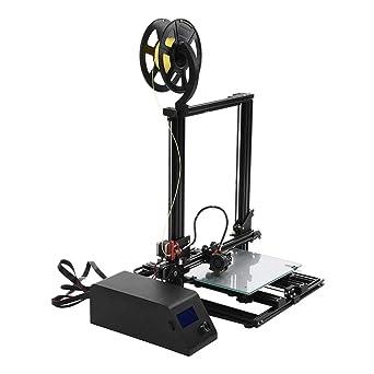3DプリンタAcouto新機種最大100mm/sの高速高速造形組立て簡単停電印刷物取り易い速い放熱3DプリンタDIYキットFDM成形細線LCDスクリーン付き(米国プラグ)