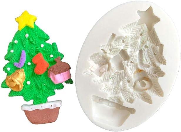 Gâteau au chocolat Décoration moule en silicone arbre de Noël Sugarcraft Fondant