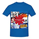 Red Hot Chili Peppers The Studio AlbumHits Mens O Neck Slim Fit Tee Blue