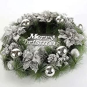 WY-Christmas wreath Guirnaldas de Navidad para chimeneas Escaleras Decoración de guirnaldas de Navidad Artificiales con Bayas Piñas Bowknots Guirnaldas de Navidad Decoración de árboles: Amazon.es: Hogar