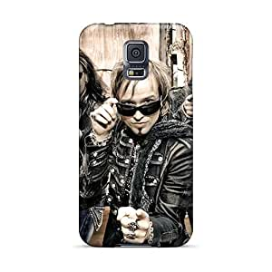 Samsung Galaxy S5 Lzq11161kYbb Customized Vivid Helloween Band Image Protective Hard Cell-phone Cases -EricHowe