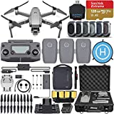 DJI Mavic 2 Pro Drone Quadcopter with Hasselblad Camera, Fly More Combo, 3 Batteries, 6 Piece Filter Kit, SanDisk Extreme 128gb Memory Card, Aluminum Shock Proof Case, More