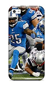 Cute Appearance Cover/tpu JJQlBro3404RjqWB Detroit Lions Case For Iphone 5c