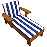 STS Outside Patio Chaise Lounge Chair Wooden Frame Garden Yard Kids Children Toddlers Pool Recliner Furniture & E book By Easy2Find