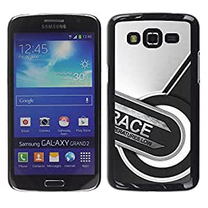 Caucho caso de Shell duro de la cubierta de accesorios de protección BY RAYDREAMMM - Samsung Galaxy Grand 2 - Carrera Resumen