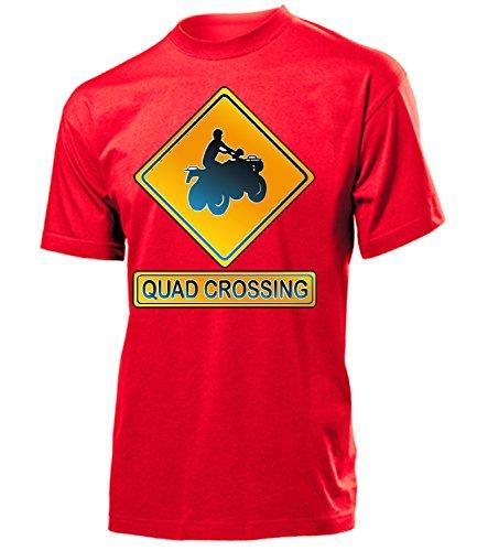 QUAD CROSSING hombre Unisex camiseta Tamaño S to XXL varios colores Rojo / Blanco