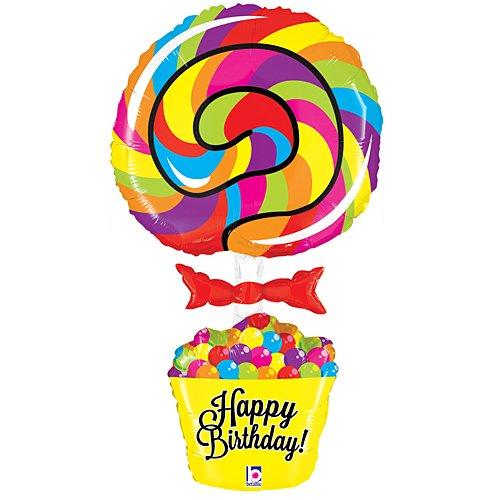 Lollipop Birthday Foil Balloon -
