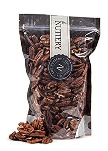 The Nuttery Raw Pecans 16 ounce Pouch Bags (1lb) (Pecans Raw)
