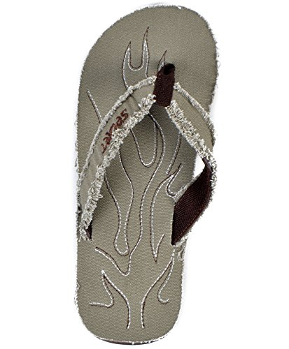 Heren Canvas Flip Flop Groen