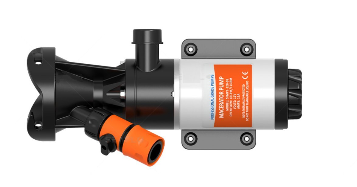 SewerFlo Quick Release RV Macerator Pump - 12V, 12GPM RV Dump Station Mount