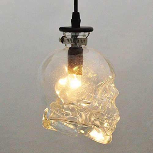 KIRIN 1 Piece of Vintage Retro Stye Glass Skull Ceiling Pendant Light Lamp Shade Lampshades Shades by KIRIN