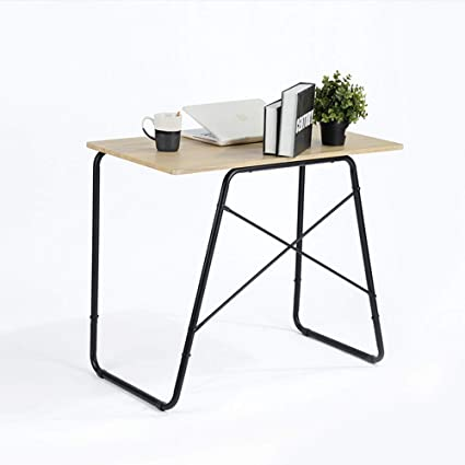 GreenForest Computer Office Desk, 35u0026quot; Modern Simple Home Office Desk  Industrial Style PC Laptop