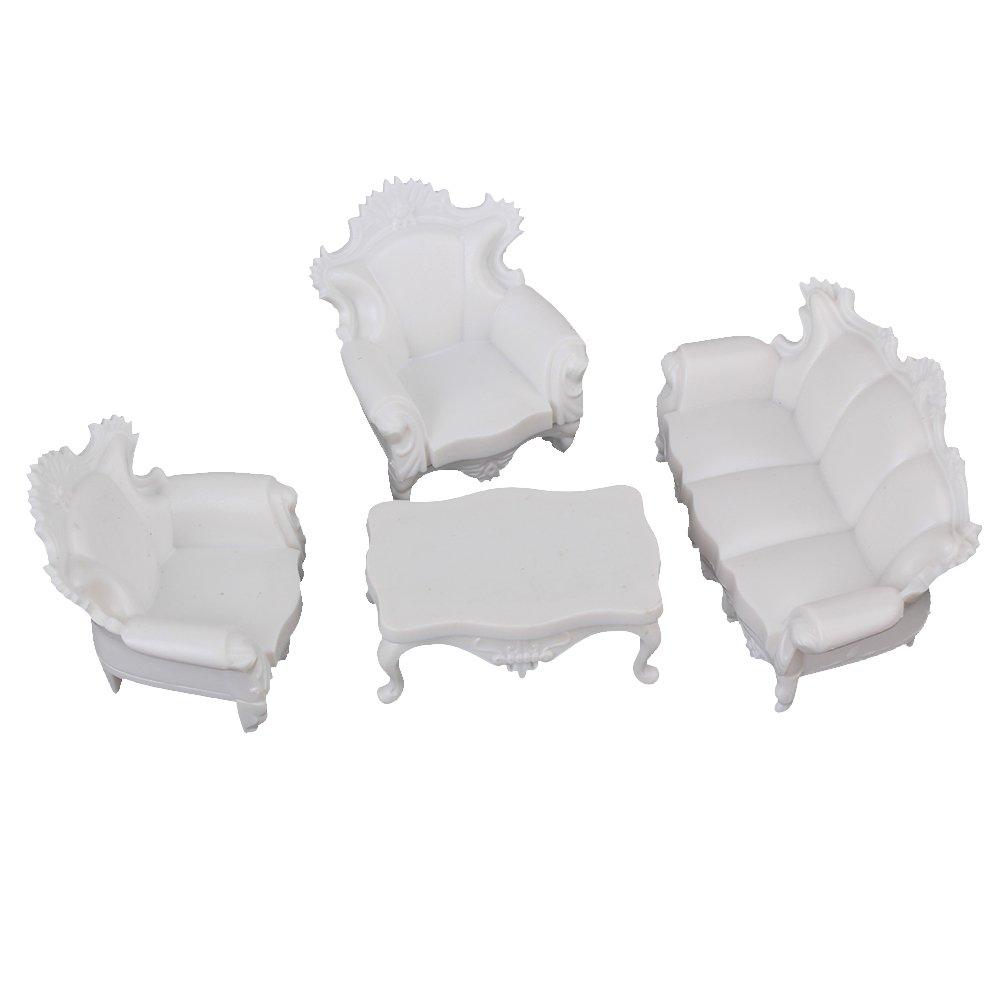 BQLZR blanco G escala 1: 25 envejecido, sofá modelo de casa ...