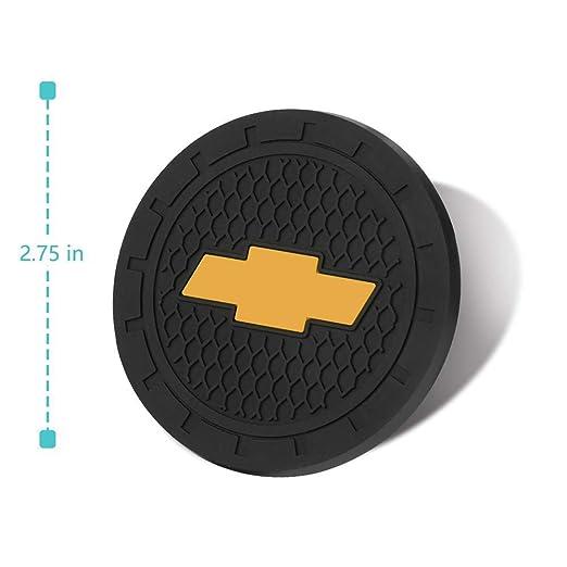 Plasticolor 000648R01 Chevy Bowtie Gold Cup Holder Coaster