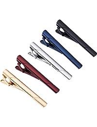 Mens Tie Clip Classic Gift Set Ties Necktie Bar Pinch Clips for Men