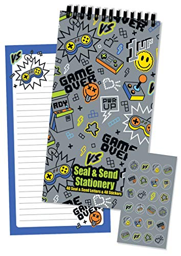 (iscream 'Game Over' Seal and Send 40 Sheet Stationery Pad with Sticker Seals)