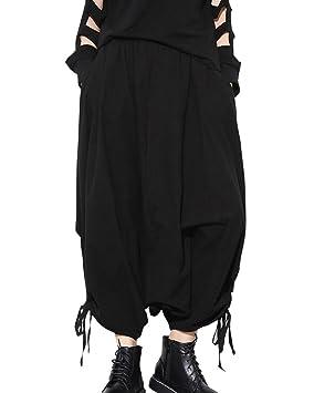 DianShao Mujeres Baggy Casual Cintura Elástica Pantalones ...