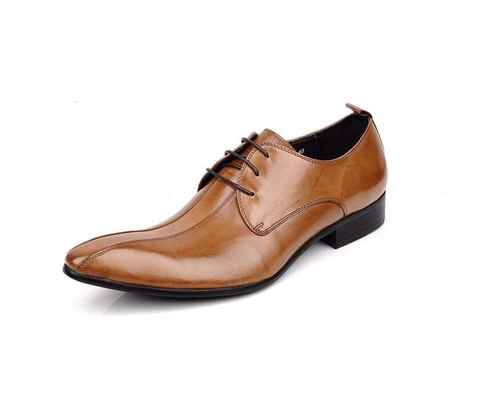 GLSHI Herren Geschäft Schuhe mit Spitzen Schuhe Arbeitskleidung Bequeme Hochzeitsschuhe