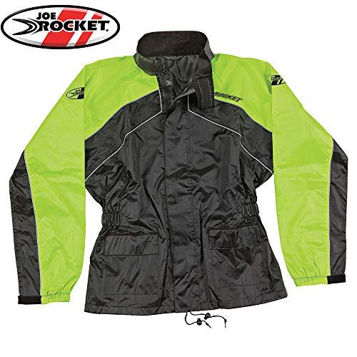 s Motorcycle Rain Suit (Black/Hi-Viz, Small) ()