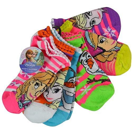 Disney Frozen Ankle Socks 6pk Size 6-8 Years Shoe Size 10.5-4