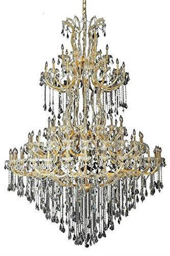 Karla Gold Traditional 85-Light Grand Chandelier Swarovski Elements Crystal in Crystal (Clear)-2381G96G-SS--8