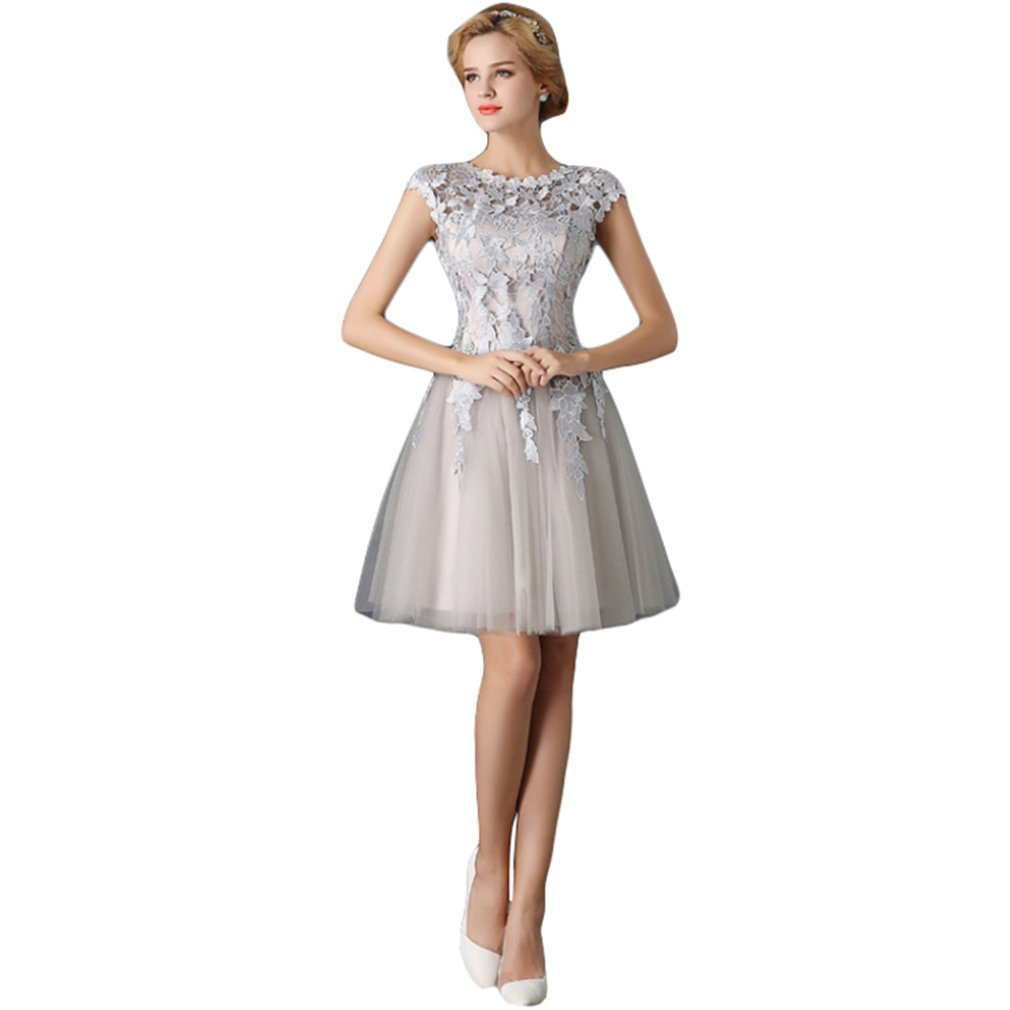 Drasawee Women Tulle Short Cocktail Prom Dress A-Line Evening Gowns