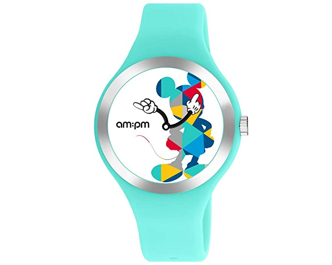 Disney Mickey Mouse - Reloj Unisex (por AM: PM dp155-u531 Aqua Azul Correa de Silicona: Amazon.es: Relojes