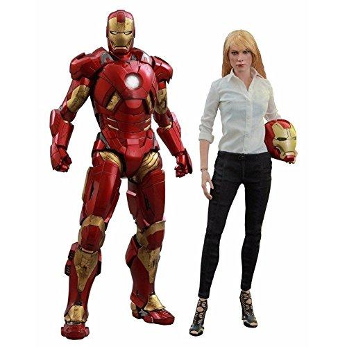 Pepper Potts & Mark 9 Iron Man 3 Hot Toys 1/6 Scale Figure [With Bonus Accessory]