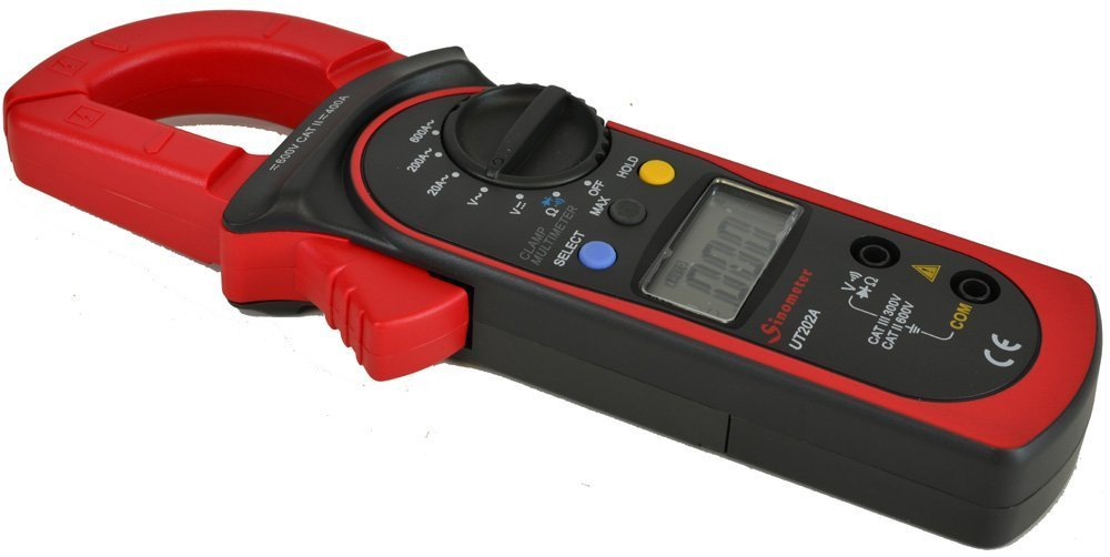 UNI-T UT202A escombros pinza amperimétrica Digital con pantalla LCD de multímetro voltímetro DC Corriente alterna/: Amazon.es: Bricolaje y herramientas