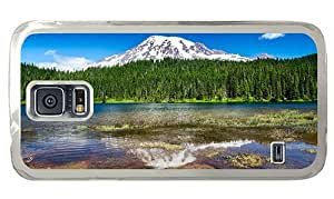 Hipster Samsung Galaxy S5 Case cassette mount rainier national park PC Transparent for Samsung S5 by runtopwell