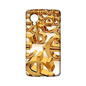 Google Nexus 5 Protective Mobile Shell Personalized Protective Phone Case Snap on Google Nexus 5 Currency Sign Pattern Cover Back