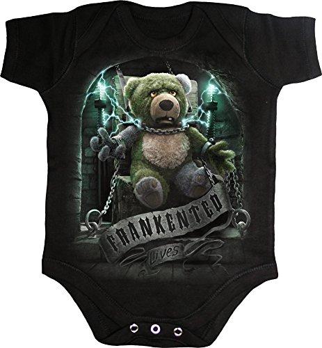 Spiral - Baby-Boys - FRANKENTED - Baby Sleepsuit Black - XS -