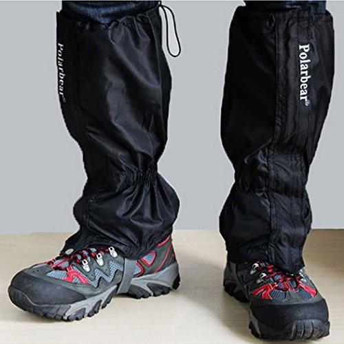 Yihya Unisex Wasserdicht Atmungsaktiv 2 PC Gamaschen Gaiter - Legging Gamaschen Kletter kampierende Jagd Schutz Gaiter Anti Schnee und Anti-Regen besten für Outdoor Sports ( Schwarz )