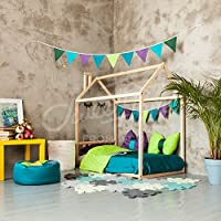 House bed frame FULL or QUEEN, toddler bed, cabin bed, floor bed, children furniture, nursery furniture, tent bed play tent Headboard SLATS