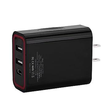 Amazon.com: Fosa tipo C USB cargador rápido, tipo C + ...