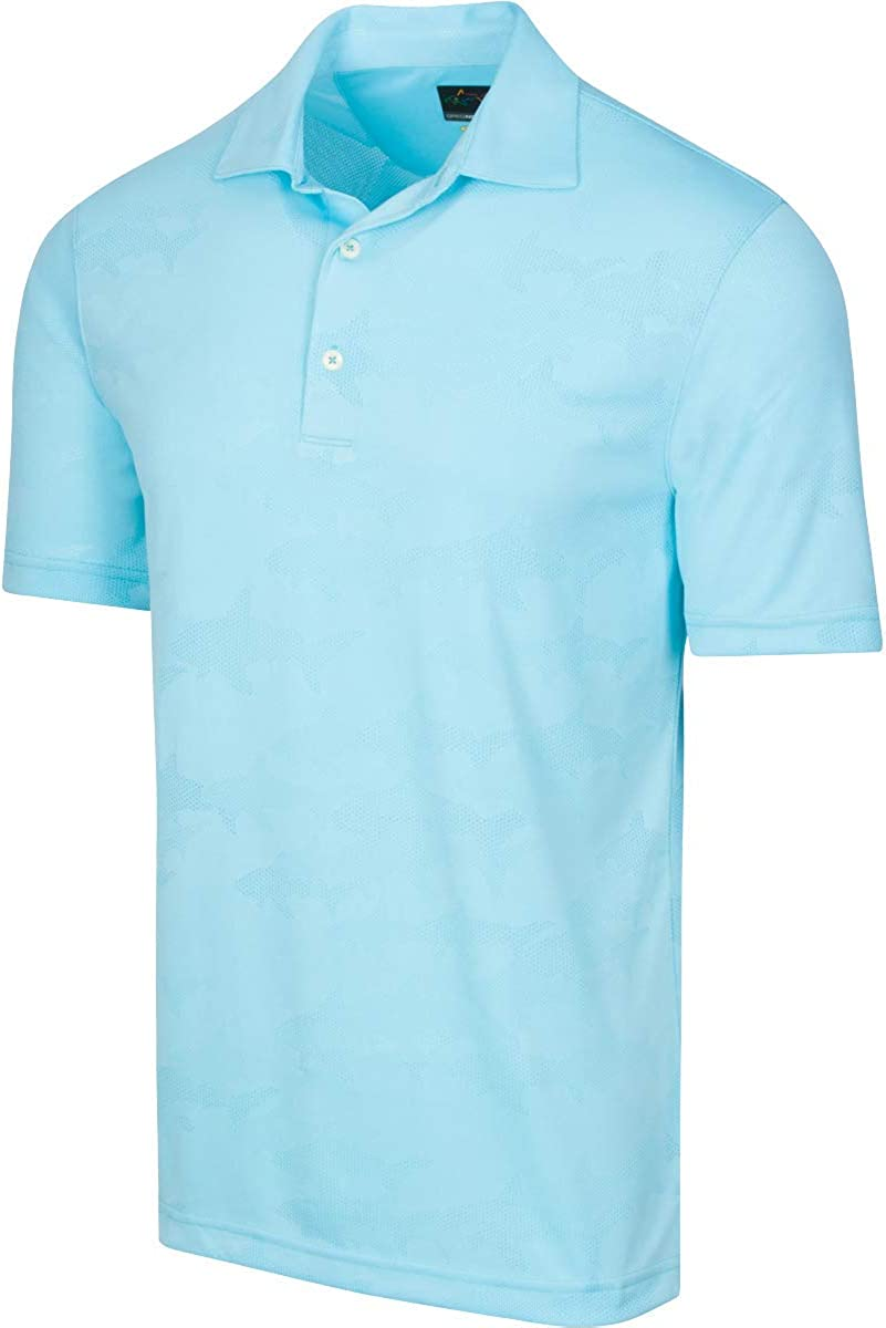 Greg Norman Mens Shark Jacquard Polo