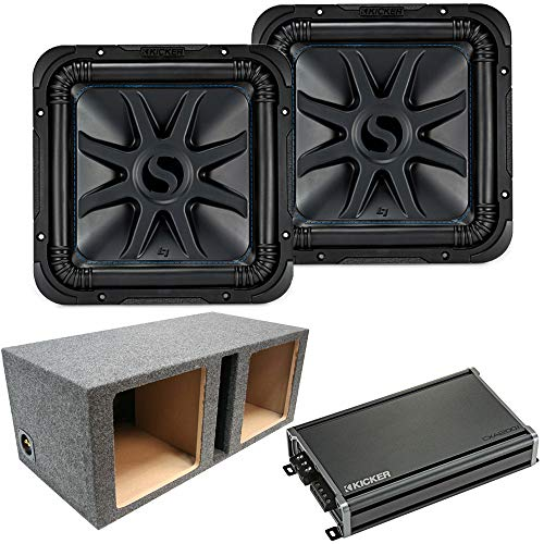 Loaded Dual Kicker 44L7S122 Car Audio Solo-Baric 12″ Box & 43CXA12001 Amp Bundle (Renewed)