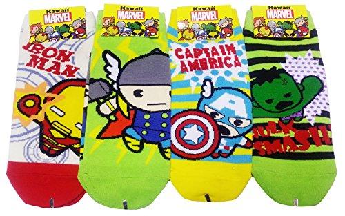JJMax Women's Superheroes and Villains Cute Cartoon Hero Socks Set (Kawaii Set 2)
