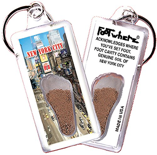 New York City FootWhere Souvenir Zipper-Pull. Made in USA (NYC305 - Times - Souvenir In Shops Times Square