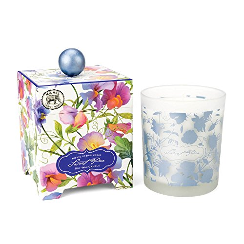 (Michel Design Works Gift Boxed Soy Wax Candle, 14-Ounce, Sweet Pea)