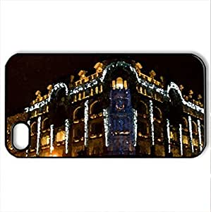 Building at Night - Case Cover for iPhone 4 and 4s (Ancient Series, Watercolor style, Black)
