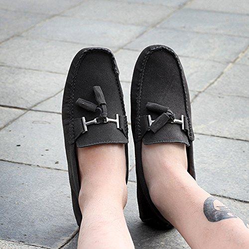 Rismart Mens Élégant Gland En Daim Mocassins Appartements Confort Conduite Bateau Chaussures Gris 2080 Us10
