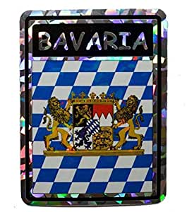 Albatros 6 pack bavaria lions country flag reflective decal bumper sticker for for Country garden 6 pack