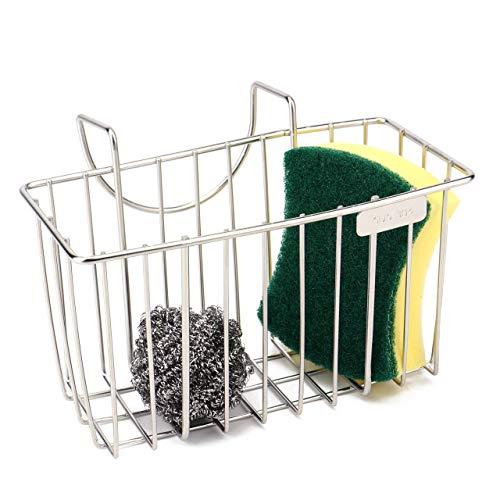 (Kitchen Sponge Holder - Sink Caddy Organizer Holders - Dishwashing Rack - Soap Bottle Brush Storage - Stainless Steel)