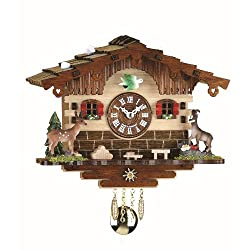 Trenkle Kuckulino Black Forest Clock Swiss House with Quartz Movement and Cuckoo Chime TU 2036 PQ