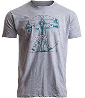Ann Arbor T-shirt Co. Vitruvian Scientist | Funny Cool Science Nerd Nerdy Geek Geeky Men Women T-Shirt