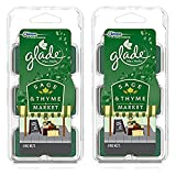 (2 Pack) Glade Limited Edition - Sage & Thyme Market - Wax Melts, 6 each